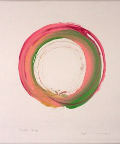 Artwork by Kazuaki Tanahashi Making the enso—the Zen circle that conveys everything, the whole world, complete, the ultimate Zen symbol of emptiness—is kind of a practice. Ensos are traditionally done in sumi ink, black on white, but Kazuaki Tanahashi is well known for his colorful ones, which he makes with one brushstroke.