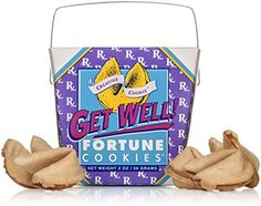 Get Well - Get Better Soon Gift - Fortune Cookies In A Gift Box - 8 Pieces Traditional Vanilla Flavor Individually Wrapped - Kosher Certified ** Quickly view this special product, click the image : Fresh Groceries Gourmet Cookies, Gourmet Gifts, Gourmet Recipes, Individually Wrapped Cookies, Get Well Messages, Get Well Flowers, Get Well Soon Gifts, Pink Cotton Candy, Fortune Cookie