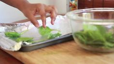 Italian Herb Baked Spinach Chips Recipe - Healthy Snack Idea! -- Watch Divas Can Cook create this delicious recipe at http://myrecipepicks.com/2944/DivasCanCook/italian-herb-baked-spinach-chips-recipe-healthy-snack-idea/