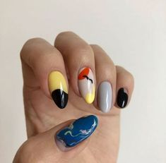 60 abstract nail art designs you're going to love page 49 Nail Design Stiletto, Nail Design Glitter, Cute Nails, Pretty Nails, Edgy Nails, Acryl Nails, Nail Polish, Manicure Y Pedicure, Perfect Nails