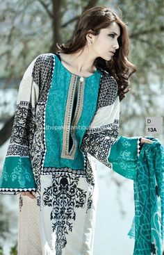 Maria B is top class dress designer in Pakistan. Recently they have launched maria b lawn collection 2014 with prices to grab the customers by their different Pakistani Fashion Casual, Pakistani Outfits, Indian Fashion, Women's Fashion, Maria B, Summer Dresses 2014, Spring Outfits For Teen Girls, Eastern Dresses, Pakistani Couture