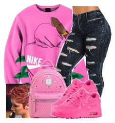 """""""Untitled #549"""" by chynaloggins ❤ liked on Polyvore featuring MCM and NIKE"""