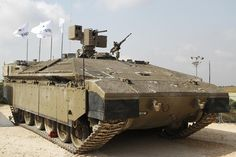 A Namer, an Israeli armored personnel carrier based on a Merkava tank chassis.