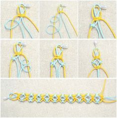 In this easy diy jewelry tutorial, you will be taught how to knit a friendship bracelet with lark's knots. This idea is just a simple way to DIY friendship bracelet. #macramebraceletsdiy