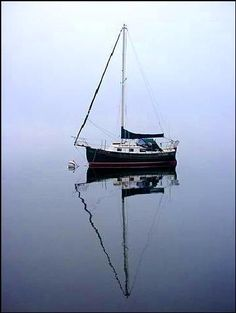 "Tom Foster's Pacific Seacraft Flicka (#373) named s/y WINDFIDDLER on Seneca Lake, New York. Spring 2002"""