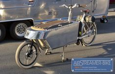 Airstreamer Bike Tandem, Tricycle, Velo Cargo, Bike Trailer, Vintage Travel Trailers, Bicycle Design, Vintage Designs, Baby Strollers, Cycling