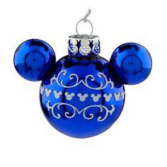 Mickey Mouse Icon Ornament Set - Blue   Ornaments   Disney Store