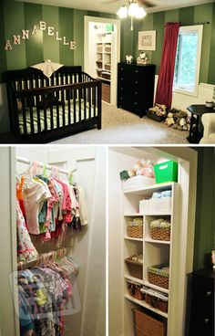 Green and pink Gender neutral nursery turned into girl nursery