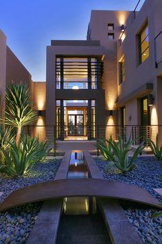 Contemporary home development in Las Vegas