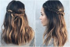 How to Do a Crown Braid in 60 Seconds