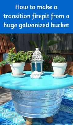 How To Make A Low Cost Firepit From A Huge Galvanized Bucket