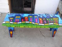 lots of ideas...using art benches, school auction