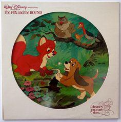 Walt Disney's The Fox and the Hound Soundtrack - Picture Disc LP Vinyl Record Album, Disneyland - 3106, 1981, Original Pressing