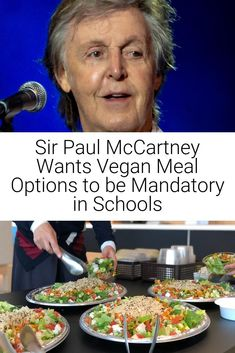 Sir Paul McCartney and his daughters have co-signed a letter spearheaded by Peta to the education secretary, Gavin Williamson to revise School Food Standards to no longer make it mandatory to serve fish, meat and dairy in schools.   ... #paulmccartney #vegancelebrity #vegan #celebrity Sir Paul, Vegan News, Vegan Animals, People Eating, Peta, Vegan Life, Paul Mccartney, Secretary, Eating Well