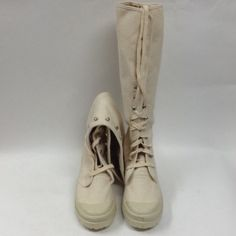 """Selling this """"Natural Canvas Knee High Boots"""" in my Poshmark closet! My username is: allaboutmeposh. #shopmycloset #poshmark #fashion #shopping #style #forsale #Chinese Laundry #Boots"""