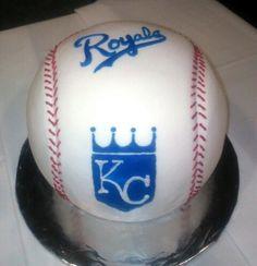KC Royals Baseball cake