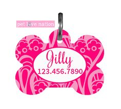 { Colors May Vary Due To Computer Settings } Pet Love Nations pet tags are light weight and stylish, but still help protect and identify your