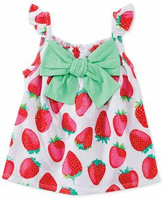 First Impressions Baby Girls' Strawberry Top