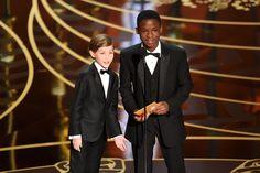 Jacob Tremblay and Abraham Attah #Oscars2016