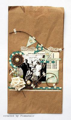 Decorate a brown paper bag.