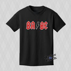 BABE ACDC logo T-shirt