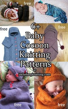 Baby Cocoon, Snuggly, Sleep Sack, Wrap Knitting Patterns