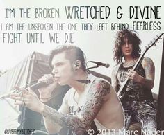BVB- lyrics- andy biersack <3