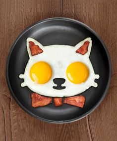 Look at this Funnyside Up Cat Egg Shaper on #zulily today!