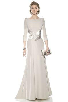 Vestido blanco gasa largo plato