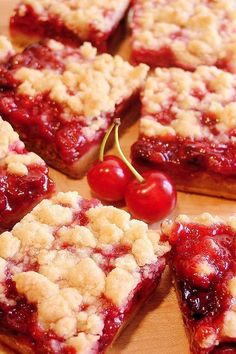 Cherry Pie Crumble Bars. A sumptuous homemade cherry pie filling made with plenty of fresh picked tart cherries as well as a crumble pastry with just the right salty-sweet and buttery richness you would expect in a darn good tart cherry pie.