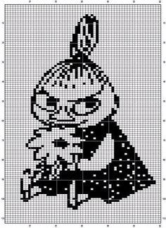 Bilderesultat for moomin knitting pattern Beaded Cross Stitch, Cross Stitch Charts, Cross Stitch Embroidery, Cross Stitch Patterns, Knitting Charts, Knitting Patterns, Crochet Patterns, Beading Patterns, Embroidery Patterns