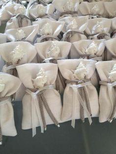 sacchetti portaconfetti in lino tema mare