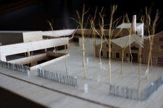 Ioana Turcanu's Masterthesis, 'Alternative school - a learning landscape', Barcelona 2014, scale 1/200