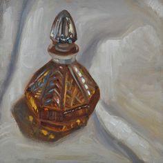 Bourbon. Still life oil painting on masonite hardboard. 2017.