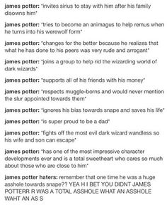 *screams to the entire world* JAMES WAS BETTER THAN SNAPE