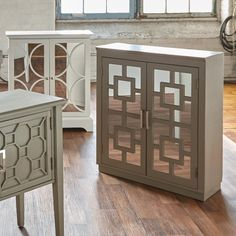 Cut Out Two Door Mirrored Buffet