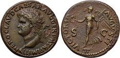 NERO (54-68). Dupondius. Lugdunum.