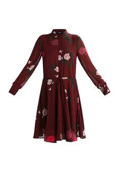 Object OBJLULU - Dress - dark red - Zalando.co.uk