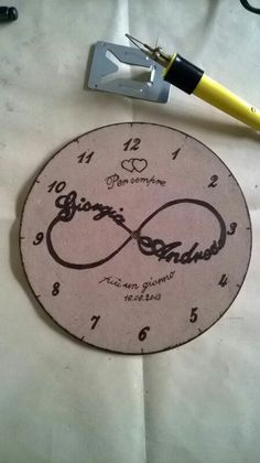 Orologio pirografo personalizzato