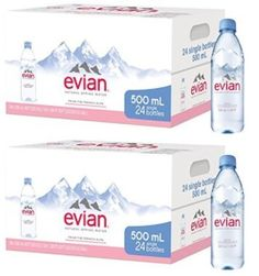 af2b313828 evian Natural Spring Water, One Case of 24 Individual 500 ml (16.9 oz.)  Bottles of Naturally Filtered Spring Water (.2 Cases of 12)