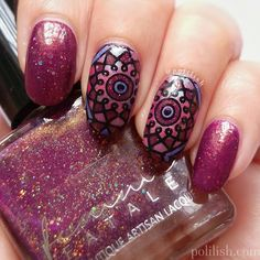 Week 11 - K for Kaleidoscope nail art. Read all about this on my blog post: http://www.polilish.com/2016/07/abc-challenge-k.html and find the full tutorial on my YouTube channel: https://www.youtube.com/watch?v=kMceY-7y_Kc #nailpolishsocietyabc
