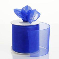 25 Yards Royal Blue Organza Ribbon With Satin Edges For Wedding Decoration Organza Ribbon, Blue Wedding, Decor Crafts, Decorative Accessories, Grosgrain, Decorating Tips, Accent Decor, Royal Blue, Party Supplies