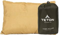 Amazon.com: TETON Sports Camp Pillow; Great for Travel, Camping and Backpacking; Washable, Brown: Sports & Outdoors Camping Pillows, Sleeping Under The Stars, Fluffy Pillows, Travel Checklist, Small Pillows, Sleeping Bag, Backpacking, Flannel, Outdoors