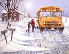 Winter snow, a large bus,diamond embroidery diamond mosaic sale diamond mosaic full gear Square drill paintings from rhinestones
