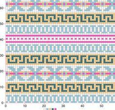 "Photo from album ""Жаккарды on Yandex. Tapestry Crochet Patterns, Mosaic Patterns, Loom Patterns, Beading Patterns, Fair Isle Chart, Fair Isle Pattern, Cross Stitch Charts, Cross Stitch Designs, Knitting Charts"