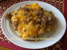 HASH BROWN & SAUSAGE BREAKFAST CASSEROLE: Southern Lady cooks..... Sunday is tomorrow
