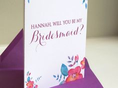 Customizable Be My Bridesmaid, Maid of Honor, Ask Bridal Party Card ǀ Second City Stationery