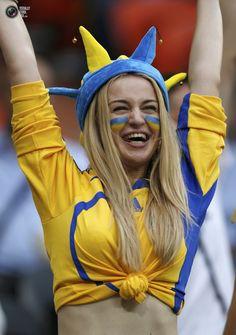 Ukraininan fan. Match against France.