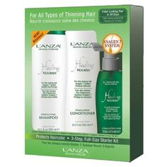Lanza Healing Haircare Nourish Anagen 7 System 3 Step Starter Kit by Lanza healing haircare. $51.98. NEW L?ANZA HEALING NOURISH!!!!!!!? First anti-thinning formulas specificallydeveloped for women.? Also effective for men because it inhibits DHT.? L?ANZA?s Exclusive Anagen 7 System.? Hair looks fuller with more density in 30 days.? Easy-to-use, 3-step system.? Developed by an expert team of scientists.? L?ANZA?s reputation for the highest-quality & highest performingproduct...