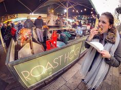 🔞ROAST HOG🔞 ...I'm hungry and the first thing that comes in my mind is this strange but delicious sandwich... 🐷🐽🐷🐽🐷 miss u Borough Market... Miss u London!!😢 ...but have you seen her face?? What a hungry girl!!🤦🏼‍♀️😂😂🔪🔪 || #throwback #London #BoroughMarket #GoPro #Hero4 by luca_piuma23. worldtravel #goprotravel #discover #throwback #aroundtheworld #trip #instatraveling #exploremore #explore #trippy #traveladdict #photooftheday #sandwich #beahero #london #visiting #roasthog…
